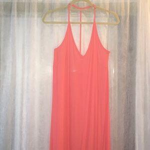 Lush pink maxi dress